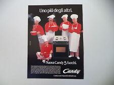 advertising Pubblicità 1984 CUCINA 5 FUOCHI CANDY