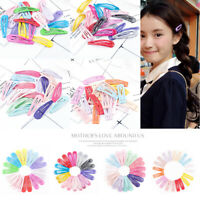 20pcs 5cm Kids Girls No Slip Metal Hairpin BB Snap Hair Clips Hair Accessories