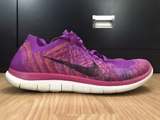 Nike Free 4.0 Flyknit Women's Shoes Size 8.5 Purple Running Athletic 717076-503