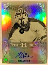 Grant Fuhr 2017 Leaf Sports Heroes Metal Base SILVER Refractor Autograph Auto