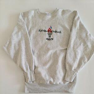 Vintage Champion Reverse Weave Atlanta 1996 Olympics Sweatshirt Made In USA XL