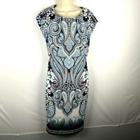 Cato Womens Size 6 Dress Multicolor Paisley Floral 'F'