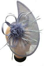 Large Headband and Clip Hat Lilac Fascinator Weddings Ladies Day Race Sinamay UK