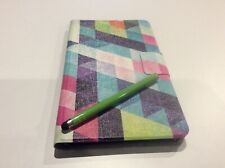 "Samsung Galaxy Tab 4 SM T230 Case Cover 7"" Pink Purple Blue Stylus Cloth NEW US"