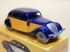 FRENCH DINKY ATLAS. 24L PEUGEOT 402 TAXI IN BLUE/YELLOW. MIB