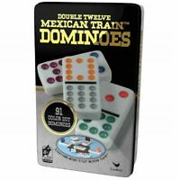 Professional Dominoes Game Double 12 Color Dot Domino Set Tiles Mexican Train