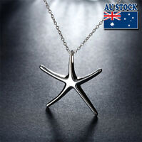 Wholesale Lovely 925 Sterling Sliver Filled Star Fish Pendant Necklace Gift