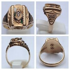 College Ring 10K 416er Gold Josten M V High School 1954 Goldring 53 (16,8 mm Ø)