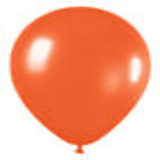 12 Crystal Orange Latex Balloons Helium Grade 11""