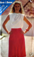Vintage Butterick SEWING Pattern Ladies Skirt 8972 8 10 12