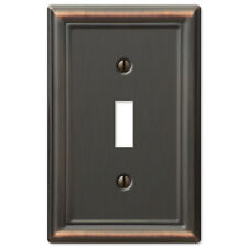 Chelsea Antique Bronze Metal Switchplate Wall Plate Covers Light Switch Outlet