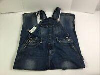 Womens Denim Bib Overall Jeans 2XL Distressed Riped Dungaree Romper Size XXL