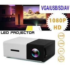 PROIETTORE PORTATILE HD LED MINI VIDEOPROIETTORE HOME CINEMA TV VGA/USB/SD/AV