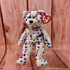 Beanie Babies TY 2K Confetti TEDDY BEAR 1999 2000 TAG ERRORS Original RETIRED