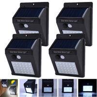 20/25/30LED Solar Powered Outdoor Wall Light PIR Motion Sensor Lamp Waterproof