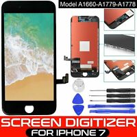 For iPhone 7 Black LCD Screen Replacement Digitizer 3D Touch Display Assembly