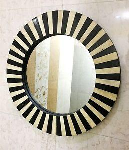 Vintage Wall Hanging Mirror Bedroom Horn/Bone Inlay Frame Home Decorative Decor