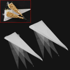 50 x Cone Shaped Crystal Clear Candy Christmas Party Gifts Cellophane Cello Bags