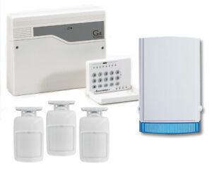 Honeywell Accenta Alarm Kit 8SP400A Burglar Alarm Panel with 3 Pet Friendly PIR
