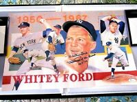 WHITEY FORD YANKEES CHAIRMAN OF THE BOARD STAT HOF SIGNED AUTO LITHOGRAPH JSA