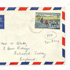 SS150 1980s FALKLANDS to GB Surrey Richmond Commercial Airmail {samwells-covers}