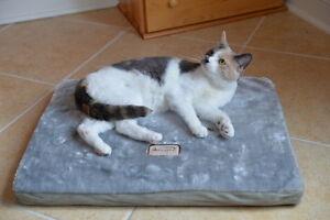 Armarkat Faux Suede Memory Foam Dog Cat Pet Bed Mat Sage Green Gray MEDIUM