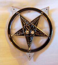 NWO Illuminati Secret Cult Baphomet Occult Car Auto Hood Emblem Badge Sticker 13