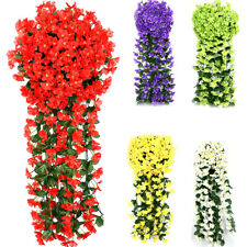 Artificial Fake Hanging Flowers Vine Plant Home Garden In/ Outdoor Multi Decor