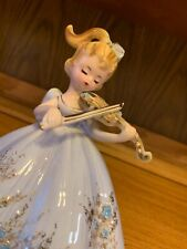 """Vintage Josef Originals Figurine Bess from """"Musicale"""" Series Playing A Violin"""