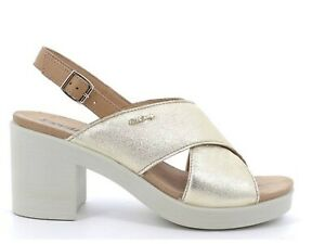 ENVAL SOFT 7285222 Sandals Shoes Heel Leather Woman Laminated