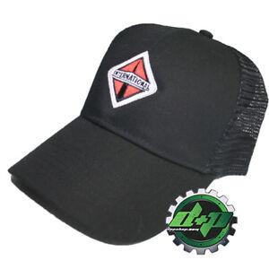 International Trucks Black Twill Mesh lightweight trucker snap back hat ball cap