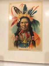 1910 American Chief L6 Large Tobacco Silk