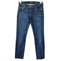 7 For All Mankind Size 25 Roxanne Jeans Womens Straight Leg Dark Wash Denim