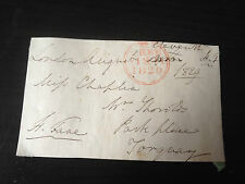 HENRY FANE - BRITISH ARMY OFFICER - SERVED WITH WELLINGTON - SIGNED ENVELOPE