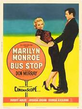 BUS STOP Movie POSTER 27x40 C Marilyn Monroe Arthur O'Connell Hope Lange Don