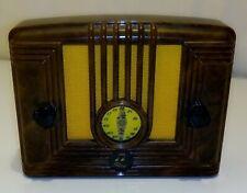 RADIO RETRO EN PLASTIQUE MARRON ECAILLE