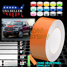 Gloss Color Racing Stripes Vinyl Wrap For Ford F-150 Stripe Sticker 25FT / 50FT