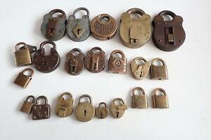 Antique / Vintage Padlock collection  - no keys
