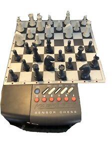 "Saitek Sensor Chess Kasparov 11"" x 9"" Electronic Computer Chessboard Vintage Set"