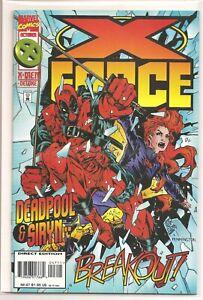 °X-FORCE #47 DEADPOOL & SIRYN BREAKOUT° US Marvel 1995