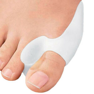 2 Silicone Gel Bunion Toe Protector Straightener Corrector Spreader Splint Pads