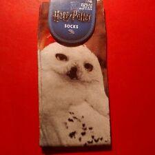 Harry Potter Socks White Owl 1 Pair Size US 6 - 10 / UK 4 - 8 Digital Print Soft