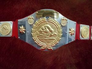 WWWF North American title Heavyweight Wrestling Champion Belt classic Patterson