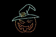 Pumpkin Witch Halloween LED metal wire frame outdoor display decoration