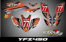Yamaha YFZ450 03- Carb   SEMI CUSTOM GRAPHICS KIT JUNN