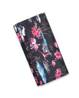Liquor Brand Pink Flamingos Flowers Nature Punk Goth Clutch Wallet LB-WAL-18014