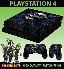 PS4 Skin Tête de Mort Horloge Pendule Of Death Gothic Dark Autocollant + Pad