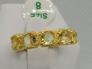 Catch a Unicorn Ring Bomb Party Size 8 Light Citrine 18K RBP2280 New w/tag & bag