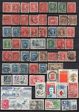 CANADA NICE LOT OF SON CANCEL POSTMARKS USED STAMPS