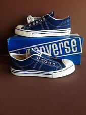 4---Converse Navy Blue Fastbreaks,, Original Boxes, Sizes Boys 3's. USA, C.1974